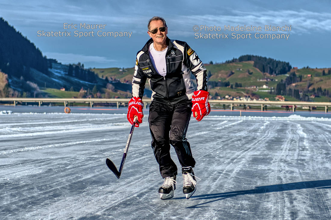 ERIC MAURER - I send my best wishes to you from a frozen lake in Winter Wonderland in the Swiss Alps!