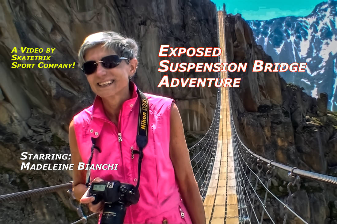 Video: EXPOSED SUSPENSION BRIDGE ADVENTURE! WANNA HAVE SOME THRILL? Then cross together with MADELEINE BIANCHI a swinging SUSPENSION BRIDGE in the SWISS ALPS!